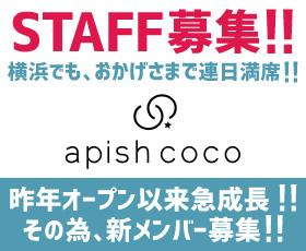apish coco(横浜)アシスタント募集!
